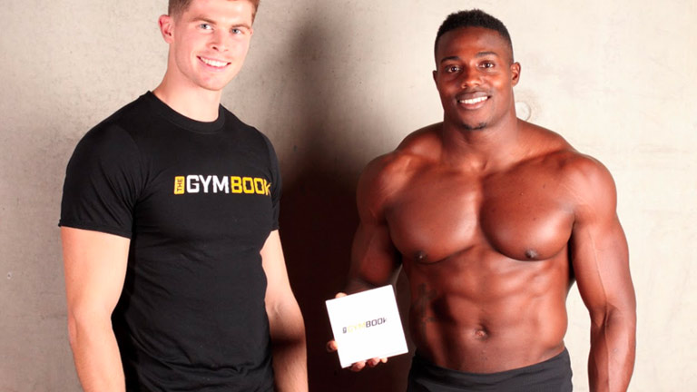 Harry Aikines Aryeetey, GB Olympic sprinter and ambassador of The Gymbook. Here Harry celebrates the completion of his Get Explosive 10 week fitness plan.
